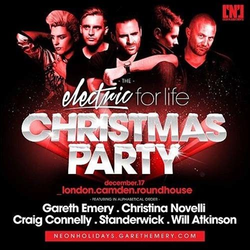 Gareth Emery @ Electric For Life Christmas Party (Roundhouse London, UK) – 17.12.2016