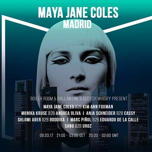 Monika Kruse b2b Andrea Oliva – live @ Boiler Room (Madrid) – 09.03.2017