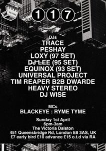 Heavy Stereo – Live @ 117 Easter Sunday, The Victoria Dalston, London – 01-APR-2018