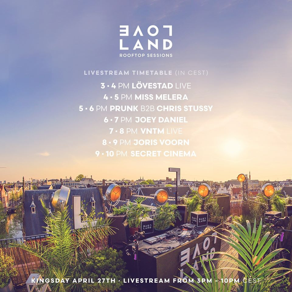 Secret Cinema – live @ Loveland Rooftop Sessions Amsterdam (Kingsday) – 27-04-2020