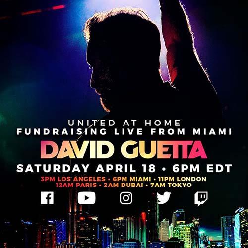 David Guetta – United at Home Live from Miami – 18-04-2020