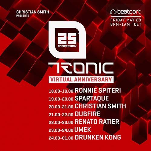 Dubfire – Tronic 25th Virtual Anniversary