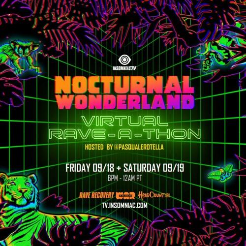 Benny Benassi – Nocturnal Wonderland Virtual Rave-A-Thon (September 18, 2020)