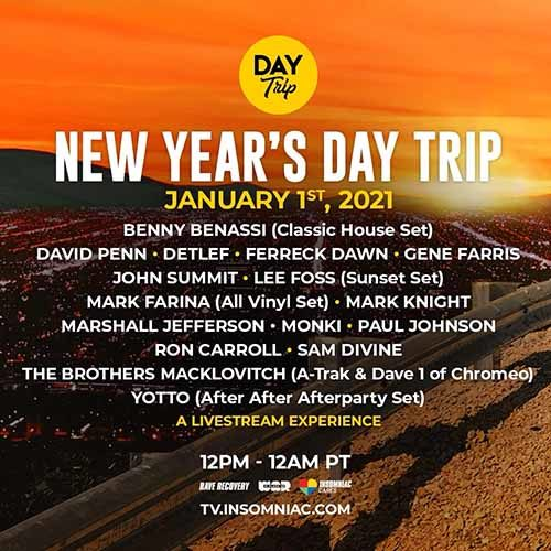 The Brothers Macklovitch (A-Trak + Dave 1 Chromeo) for New Year's Day Trip Livestream