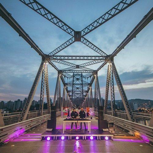 Bruno Be b2b Meca – Ponte Hercílio Luz – Florianópolis, SC